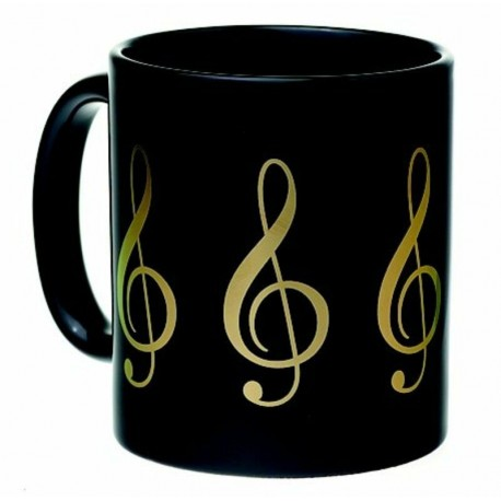 LARGE CERAMIC G CLEF MUG GREAT GIFT FOR STUDENTS, TEACHERS & MUSICIANS