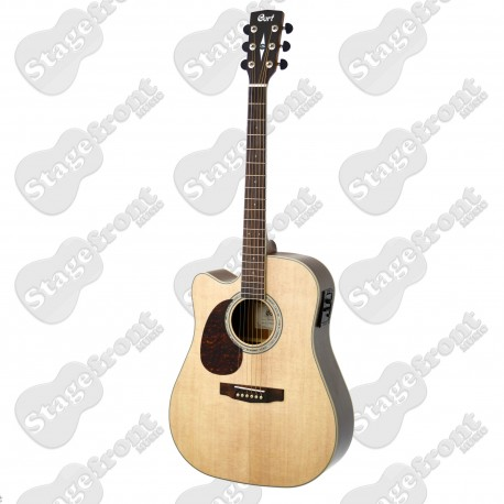 CORT MR710FL LEFT HAND ACOUSTIC/ELECTRIC GUITAR NATURAL SATIN FINISH - NEW