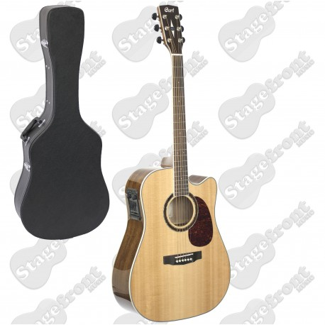CORT MR730FX PREMIUM SOLID TOP ACOUSTIC /ELECTRIC GUITAR WITH HARD CASE