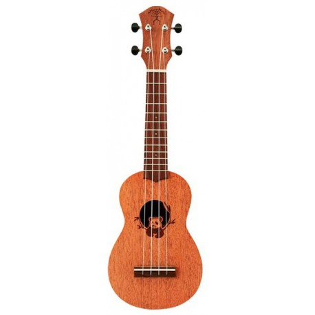 aNueNue SOPRANO UKULELE INTERNATIONAL DESIGN - CHINA. PANDA DESIGN SOUNDHOLE
