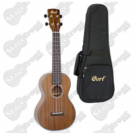 CORT ALL SOLID BLACKWOOD CONCERT UKELELE & GIG BAG. OPEN PORE