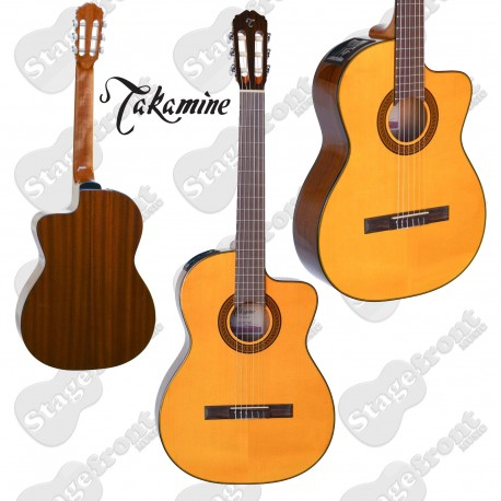 TAKAMINE GC3CE NAT ACOUSTIC /ELECTRIC CLASSICAL GUITAR SOLID TOP GLOSS FINISH