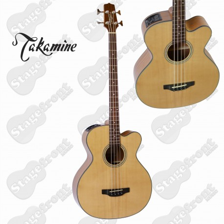 TAKAMINE GB30CE-NAT G-SERIES ACOUSTIC /ELECTRIC SOLID SPRUCE TOP BASS GUITAR