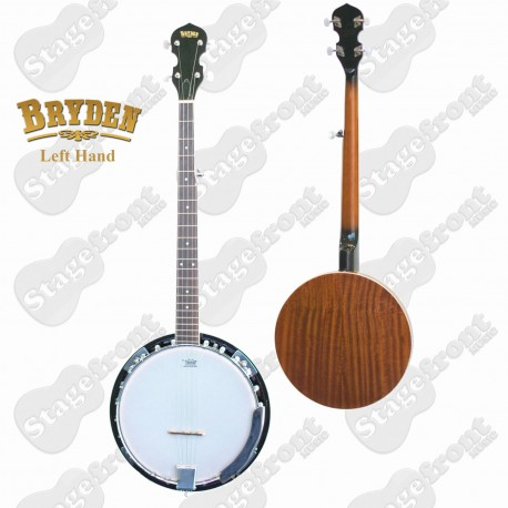 BRYDEN LEFT HAND 5 STRING BANJO ULTIMATE BEGINNERS BANJO 22 FRETS 24 BRACKETS