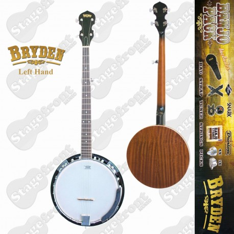 BRYDEN 5 STRING LEFT HAND BANJO ULTIMATE BEGINNERS PACK