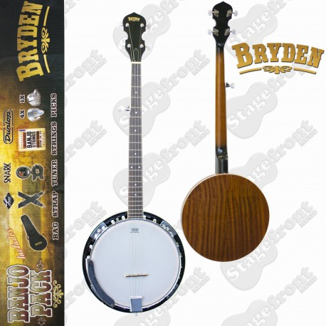 BRYDEN 5 STRING BANJO ULTIMATE BEGINNERS PACK – SBJ1PK