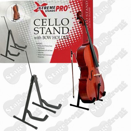 CELLO STAND PROFESSIONAL, HEAVY DUTY 'A' FRAME STEEL STAND - TV7030