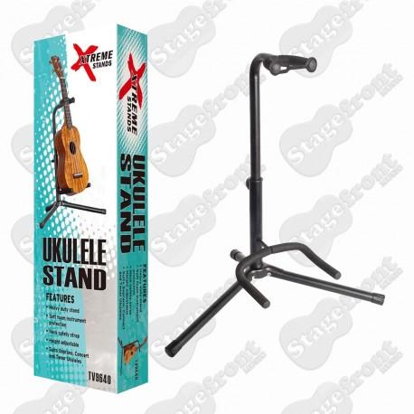 XTREME UKULELE STAND TUBULAR STYLE HEAVY DUTY WITH FOAM RUBBER PROTECTION