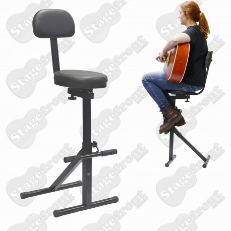 XTREME - HEAVY DUTY PERFORMER GUITAR STOOL. GUITARISTS CHAIR - GS614