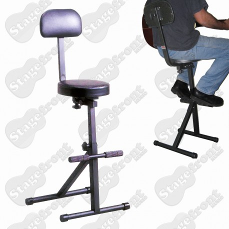 CPK GUITARIST STOOL /CHAIR. HEAVY DUTY GUITAR STOOL EXTRA HEIGHT, EXTRA COMFORT.