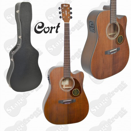 CORT MR710F ABW. ALL BLACKWOOD SOLID TOP ACOUSTIC /ELECTRIC GUITAR with CASE