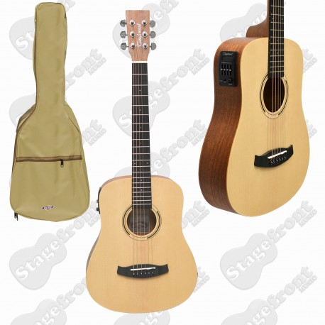 TANGLEWOOD TRAVELLER ACOUSTIC GUITAR TWR2TE ROADSTER II WITH PICKUP AND GIG BAG