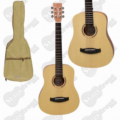 TANGLEWOOD CEDAR TOP TRAVELER ACOUSTIC GUITAR TWR2T ROADSTER II WITH GIG BAG