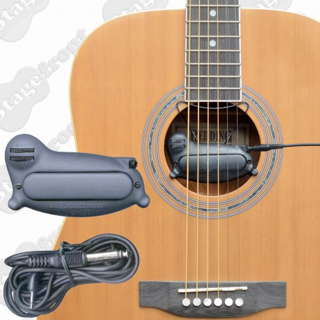 PICKUP CLASSIC SOUNDHOLE PICK UP B3835 WITH SEPARATE VOLUME AND TONE CONTROLS