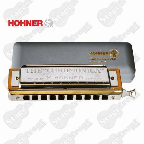 HOHNER CHROMONICA 260/40. 10 HOLE CHROMATIC HARMONICA