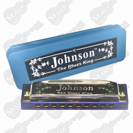 JOHNSON - DIATONIC BLUES KING. 10 HOLE HARP. Choose Key.