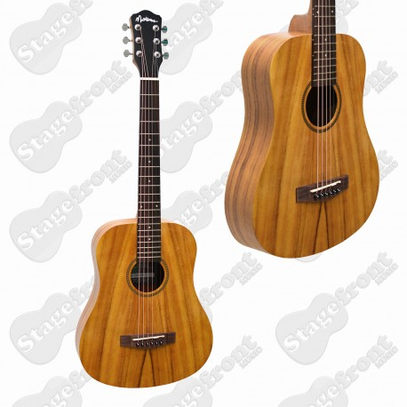 MARTINEZ KOA BABE TRAVELLER ACOUSTIC STEEL STRING GUITAR MZ-BT2-KOA
