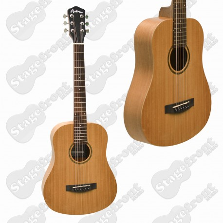 MARTINEZ MAHOGANY BABE TRAVELLER ACOUSTIC STEEL STRING GUITAR MZ-BT2-MAH
