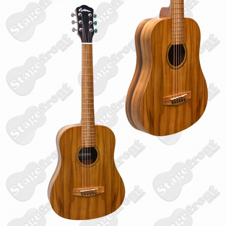 MARTINEZ TEAKWOOD BABE TRAVELLER ACOUSTIC STEEL STRING GUITAR MZ-BT2-JTK