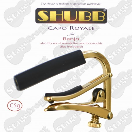 SHUBB C1g GOLD ACOUSTIC STEEL STRING GUITAR CAPO IN GOLD TITANIUM FINISH