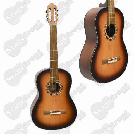 VALENCIA VC304 4/4 FULL SIZE CLASSICAL NYLON STRING GUITAR ANTIQUE SUNBURST