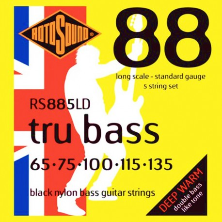 ROTOSOUND RS885LD TRU BASS 88 BLACK NYLON 5 STRING 65-135