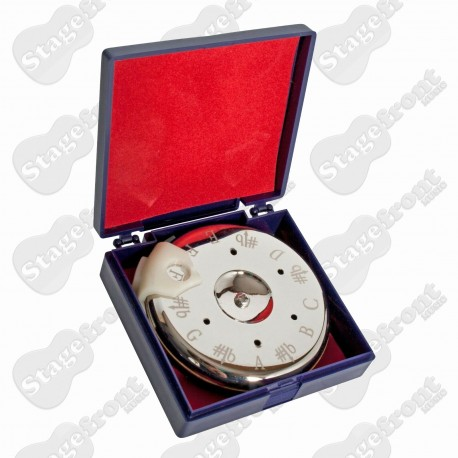JOHNSON CHROMATIC PITCH PIPE TUNER WITH SLIDING NOTE SELECTOR 13 NOTES C to C