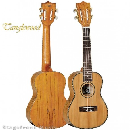 TANGLEWOOD TWT11B TIARE CONCERT UKLULELE CEDAR /SPALTED MAPLE WITH BAG