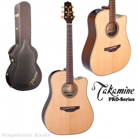 TAKAMINE P3DC PRO SERIES 3 ACOUSTIC ELECTRIC GUITAR NATURAL SATIN FINISH