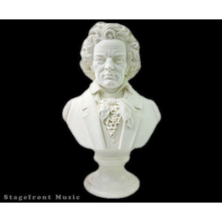 BEETHOVEN COMPOSER BUST /STATUE /FIGURINE - 40CM CRUSHED MARBLE