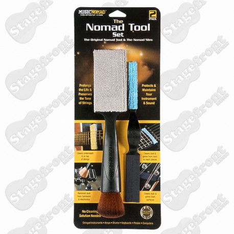 MUSIC NOMAD TOOL SET CLEANS DUST & GRIME FROM HARD TO REACH AREAS MN204