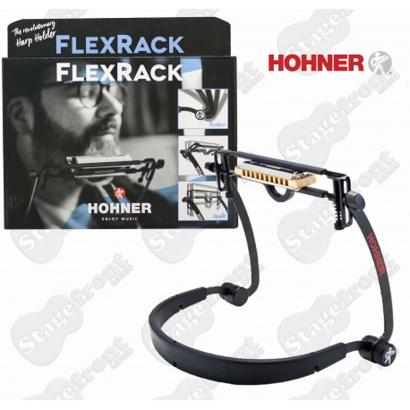 HOHNER ERGONOMIC FLEXRACK HARMONICA NECK HOLDER. FULLY ADJUSTABLE HARP HOLDER
