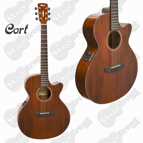 CORT SFX1F ABW ACOUSTIC SOLID TOP GUITAR ALL BLACKWOOD THINNER BODY