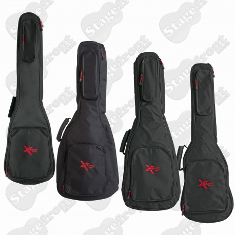 GIG CARRY BAG SUITS GUITARS AND BASSES 10mm SPONGE LINED SOFT CASE- SELECT SIZE