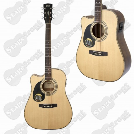 CORT AD880CEL LEFT HAND ACOUSTIC ELECTRIC CUTAWAY GUITAR