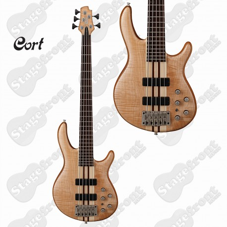 CORT A5 PLUS FMMH 5-STRING BASS GUITAR NECK-THRU-BODY BARTOLINI PICKUPS