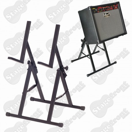 AMPLIFIER STAND - HEAVY DUTY ANGLED AMP STAND. MULTI-POSITION