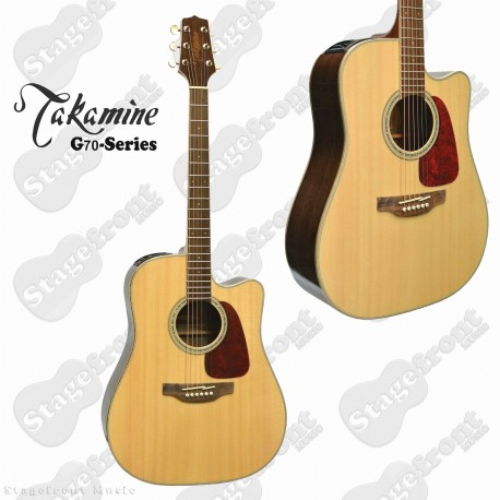 TAKAMINE G70 SERIES DREADNOUGHT ACOUSTIC /ELECTRIC GUITAR GLOSS FINISH GD71CE