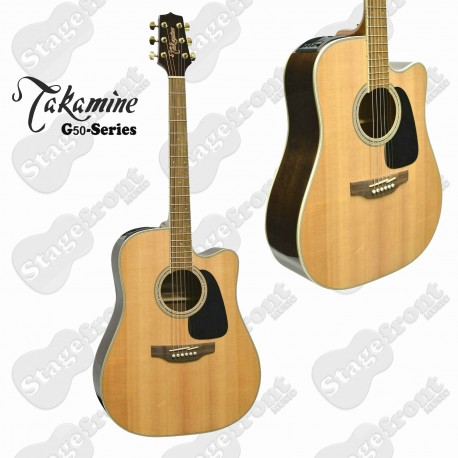 TAKAMINE G50 SERIES DREADNOUGHT ACOUSTIC /ELECTRIC GUITAR GLOSS FINISH GD51CE