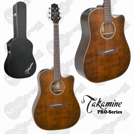 TAKAMINE P1DCSM PRO SERIES 1 ACOUSTIC ELECTRIC GUITAR SATIN MOLASSES FINISH