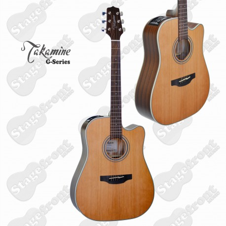 TAKAMINE GD20CE-NS SOLID CEDAR TOP GUITAR MAHOGANY BACK AND SIDES