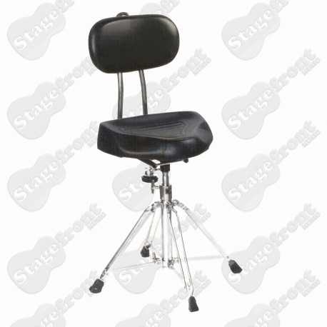 """DRUM STOOL THRONE HEAVY DUTY WELL PADDED """"SADDLE TYPE"""" SEAT WITH PADDED BACK SUPPORT"""