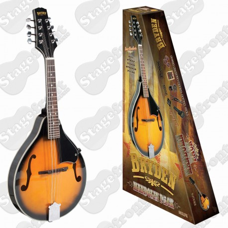 BRYDEN SMA1PK PACKAGE MANDOLIN ARCH TOP TEARDROP 'A' STYLE WITH TUNER AND BAG