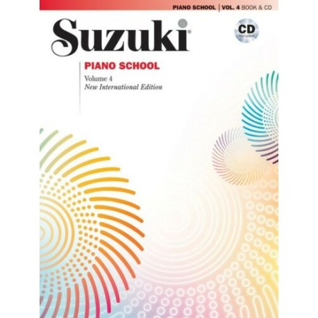 SUZUKI PIANO SCHOOL PIANO BOOK & CD VOLUME 4 NEW INTERNATIONAL EDITION