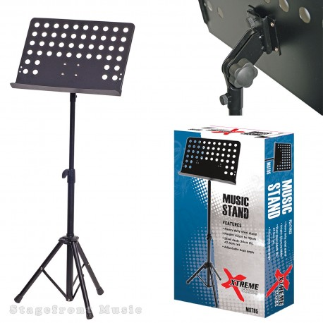 MUSIC STAND PERFORATED ORCHESTRAL. HEAVY TUBULAR CONSTRUCTION