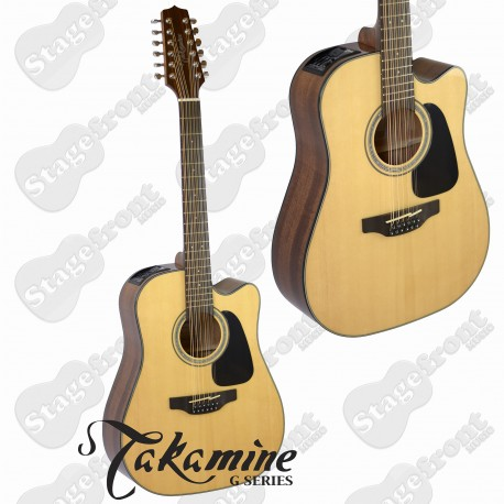 TAKAMINE  GD30CE12 G SERIES 12 STRING MODEL ACOUSTIC ELECTRIC SOLID TOP