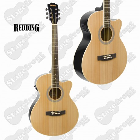 REDDING RGC51CE GRAND CONCERT ACOUSTIC/ELECTRIC GUITAR. FREE ONLINE LESSONS