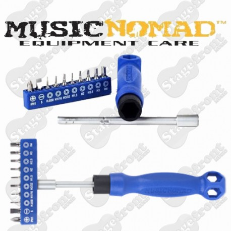 MUSIC NOMAD MN228 THE OCTOPUS 17 IN 1 TECH TOOL FOR ALL YOUR GUITAR REPAIRS