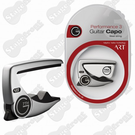 G7th PERFORMANCE 2 CAPO BLACK FOR STEEL STRING ACOUSTIC GUITARS