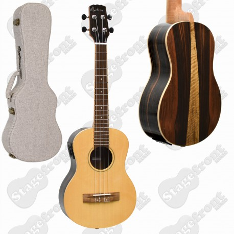 MARTINEZ CONCERT UKULELE SOLID MAHOGANY TOP ACOUSTIC ELECTRIC WITH HARD CASE